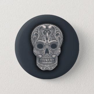 Victorian Sugar Skull 2 Inch Round Button