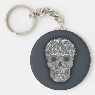 Victorian Sugar Skull Keychain