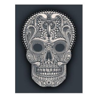 Victorian Sugar Skull Postcard