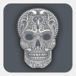 Victorian Sugar Skull Square Sticker