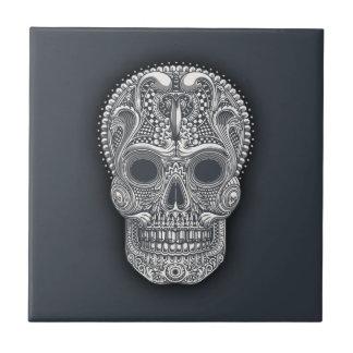 Victorian Sugar Skull Tile