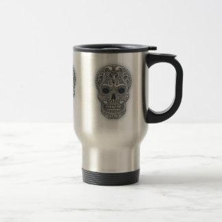 Victorian Sugar Skull Travel Mug