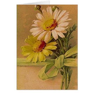 Victorian Summer Daisies Card