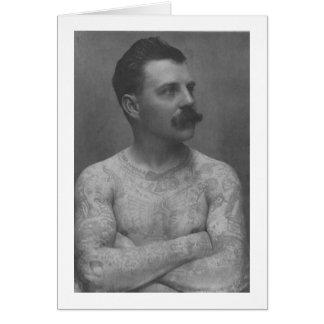 Victorian Tattoo Man Card