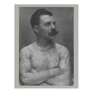 Victorian Tattoo Man Postcard