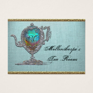 Victorian Teapot Elegant Tea Room Business Card