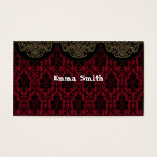 Victorian texture business card