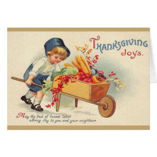 Victorian Thanksgiving Greeting Card