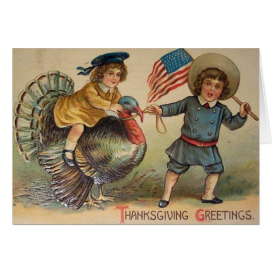 Victorian Thanksgiving Greeting Card