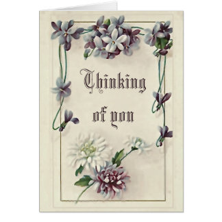 """Victorian """"Thinking of you"""" card"""