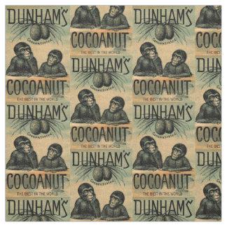 Victorian trade card: Dunham's Cocoanut print Fabric