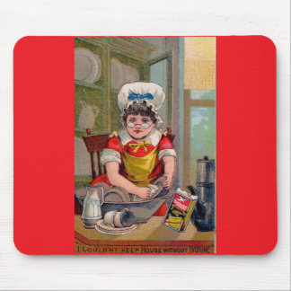 Victorian trade card for Ivorine soap Mouse Pad
