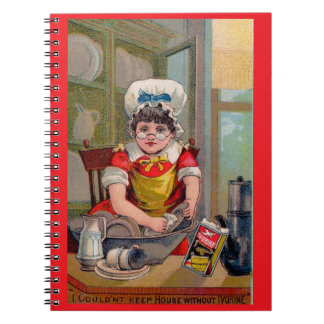 Victorian trade card for Ivorine soap Notebook