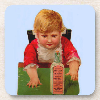 Victorian trade card: Scott's Emulsion Castor Oil Coaster