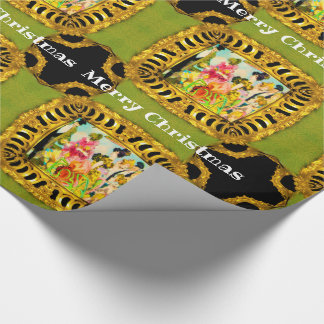 Victorian traveling for the day at Christmas Wrapping Paper