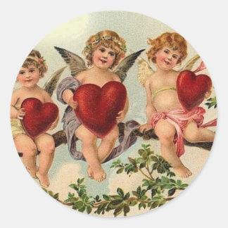 `Victorian valentine cuipid Sticker s