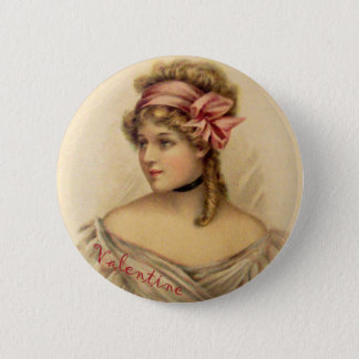 Victorian Valentine Greetings Button