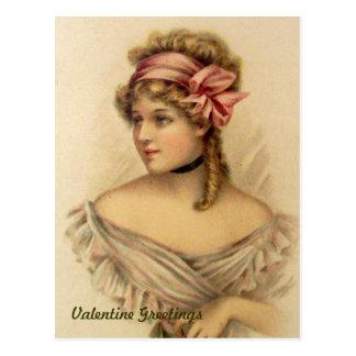Victorian Valentine Greetings Vintage Postcard