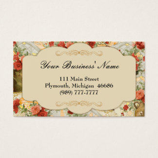 Victorian Vintage Floral Business Card