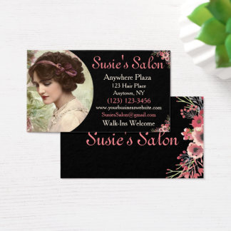 Victorian Vintage Hair Salon Beauty Business Card