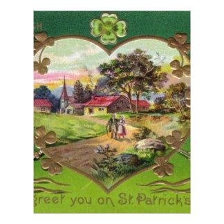 Victorian Vintage Retro Irish St. Patrick's Day Letterhead