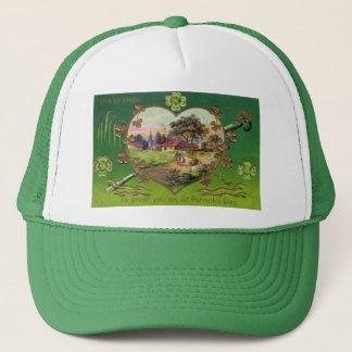 Victorian Vintage Retro Irish St. Patrick's Day Trucker Hat