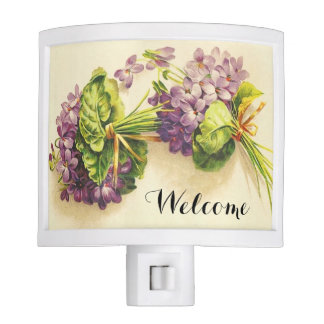 Victorian Violets Welcome Night Light