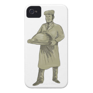 Victorian Waiter Serving Food Platter Drawing Case-Mate iPhone 4 Cases