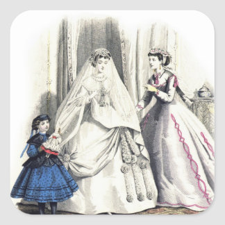 Victorian Wedding Square Sticker