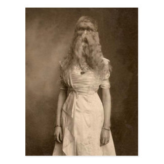 Victorian Weird a Woman Facial Hair Postcard