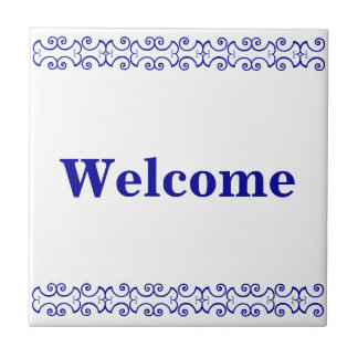 Victorian Welcome Sign Ceramic Tiles