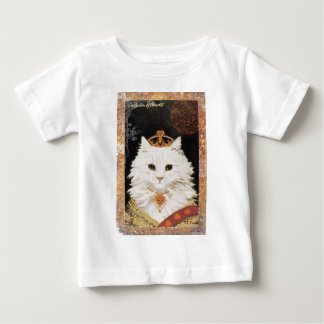 Victorian White Cat Queen Of Hearts Baby T-Shirt