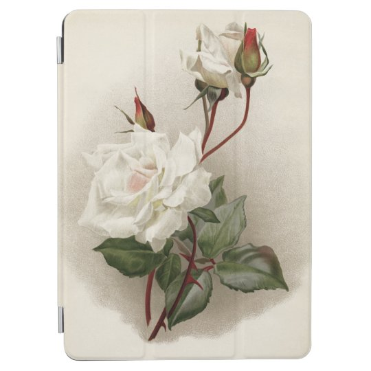 Victorian White Roses iPad Air Cover
