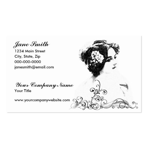 Victorian Woman Business Card Templates