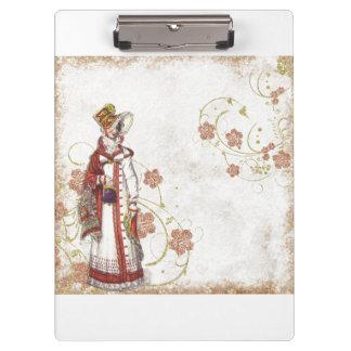 Victorian Woman Clipboard