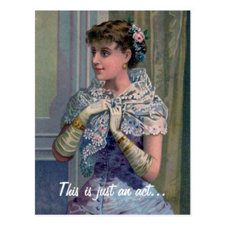 Victorian Woman Funny Valentine s Day Card Postcard