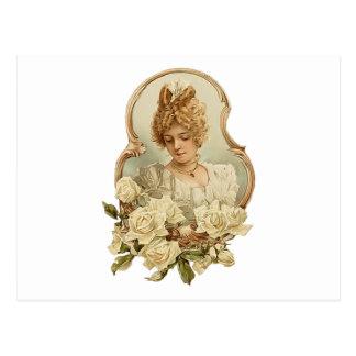 Victorian Woman Portrait Postcard