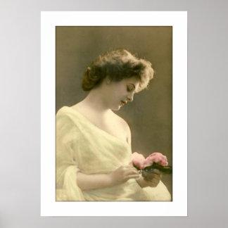 victorian woman retrospective romantic poster