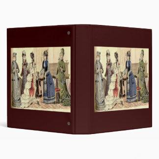 Victorian Women Fashion Vinyl Binder