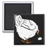 Victorian Woodcut Farm Animals Chickens Fridge Magnet
