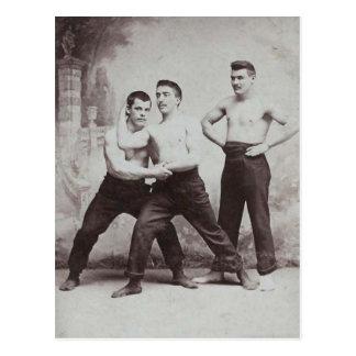 Victorian Wrestlers Postcard