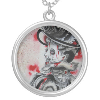 """Victorian Zombie"" Silver Plated Necklace"