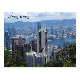 Victoria's Peak in Hong Kong Postcard