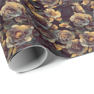 Victoria's Wall Flowers (Wrapping Paper) Wrapping Paper