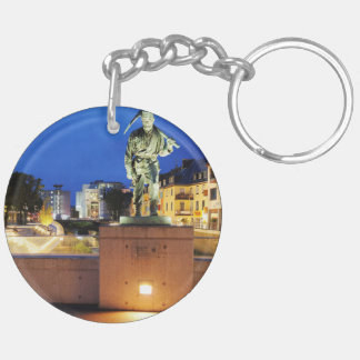 Victories miner Henner on the victory bank Double-Sided Round Acrylic Keychain