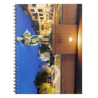 Victories miner Henner on the victory bank Spiral Notebook