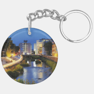 Victories victory banks to the blue hour Double-Sided round acrylic keychain