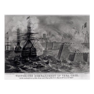 Victorious Bombardment of Vera Cruz Postcard
