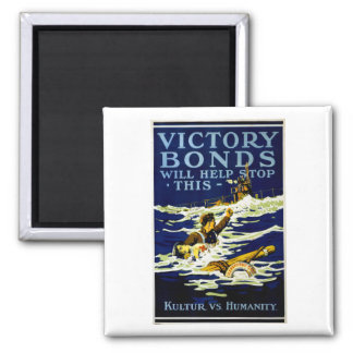Victory Bonds Will Help Stop This Square Magnet