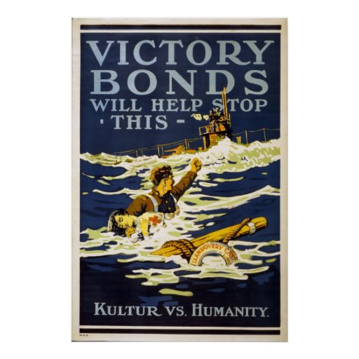 Victory Bonds will help stop this World War 1 Posters